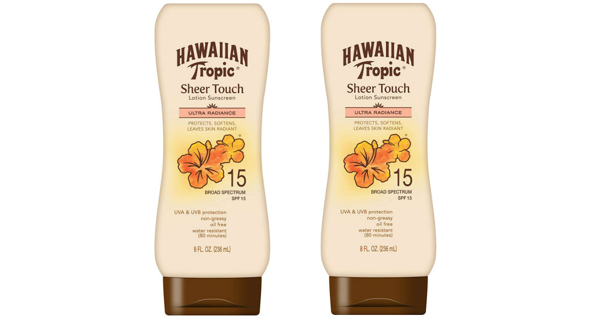 Hawaiian Tropic Moisturizing Sunscreen ONLY $3.13 Shipped