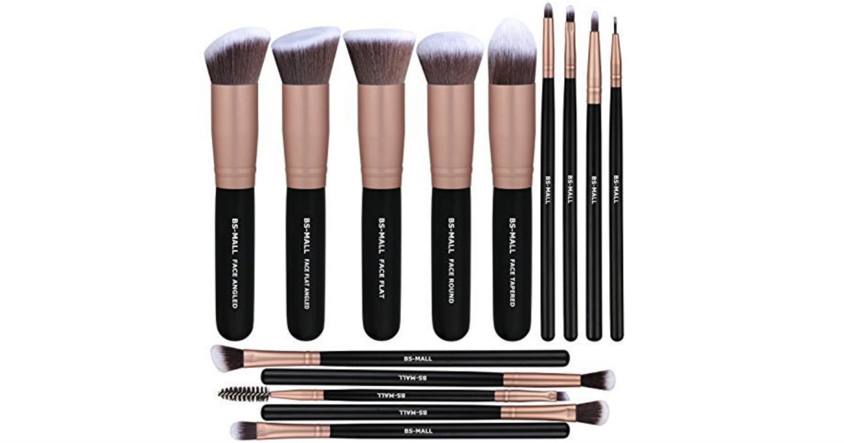 BS-MALL Makeup Brushes 14-Piece ONLY $8.99 on Amazon