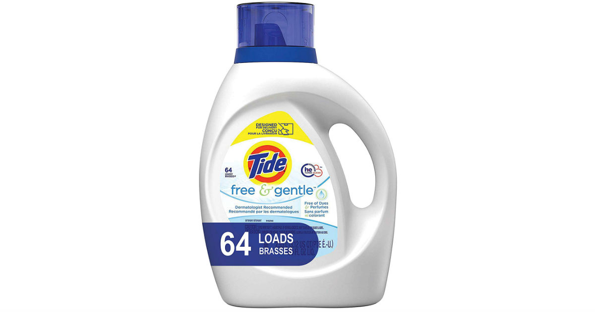 Tide Free and Gentle Laundry Detergent 100 oz ONLY $8.99