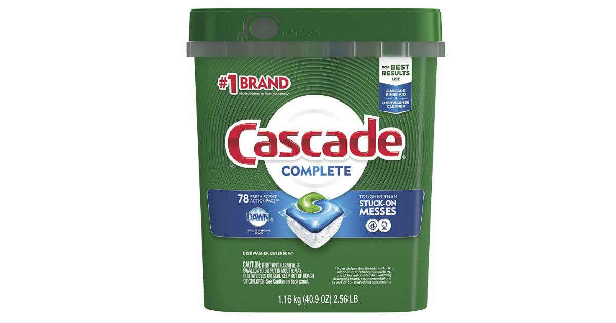 Cascade Complete Dish Detergent ONLY $9.70 (Reg. $17)