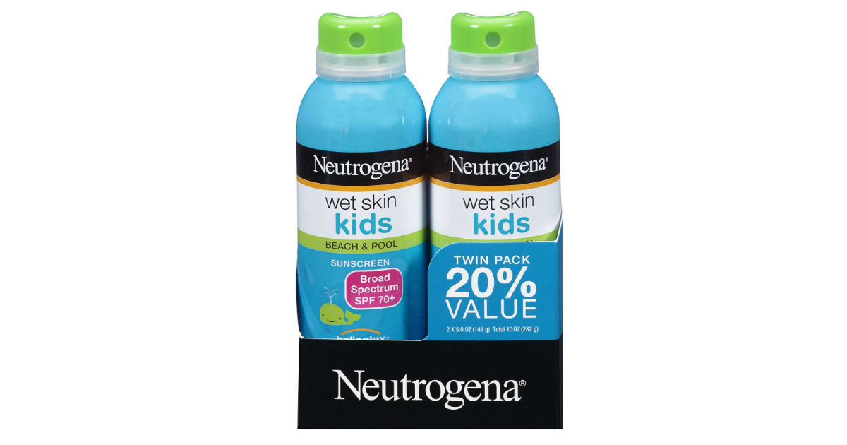 Neutrogena Wet Skin Kids Sunscreen 2-Pack ONLY $10.50 (Reg. $18)