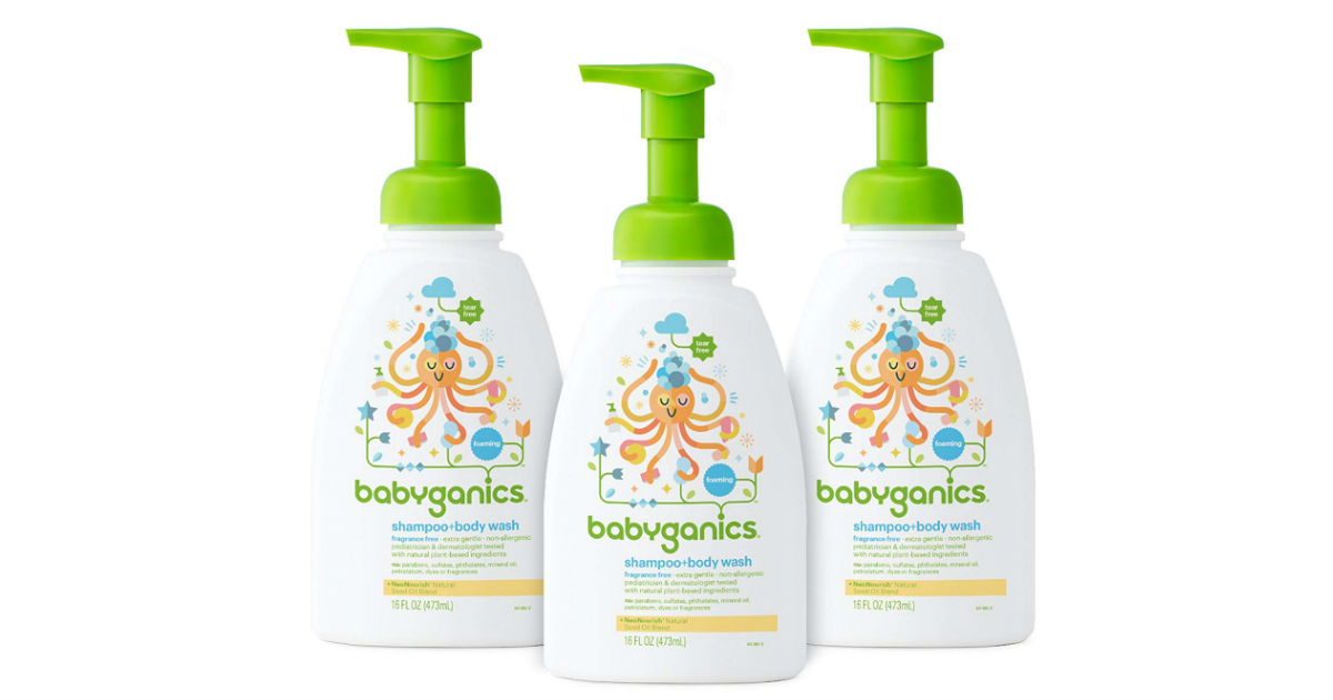 Babyganics Shampoo and Body Wash 3-Pack ONLY $15.67 Shipped