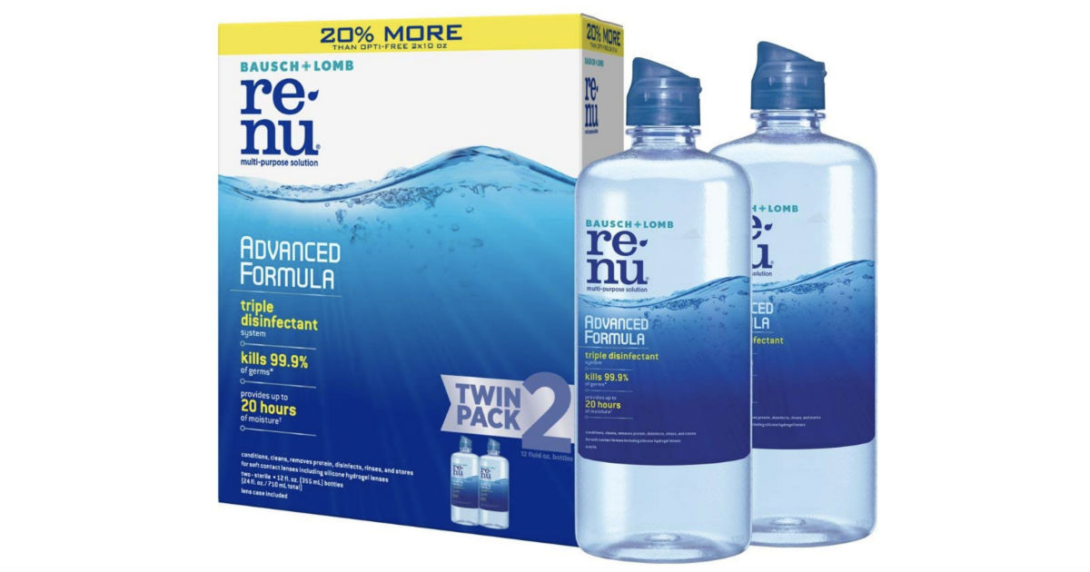 Bausch + Lomb ReNu Lens Solution Twin Pack ONLY $6.43 Shipped