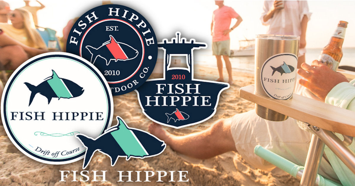 FREE Fish Hippie Stickers...