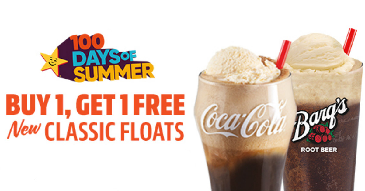 photo relating to Carls Jr Coupons Printable identify BOGO Absolutely free Carls Jr Coupon for Clic Floats - Printable