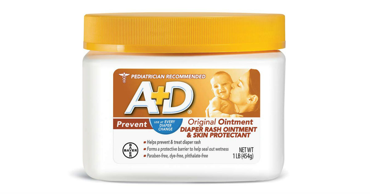 A+D Original Diaper Rash Ointment ONLY $5.42 Shipped