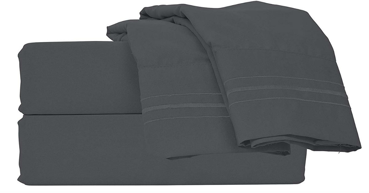 Style Basics Microfiber King Bed Sheets ONLY $16.39 (Reg. $100)