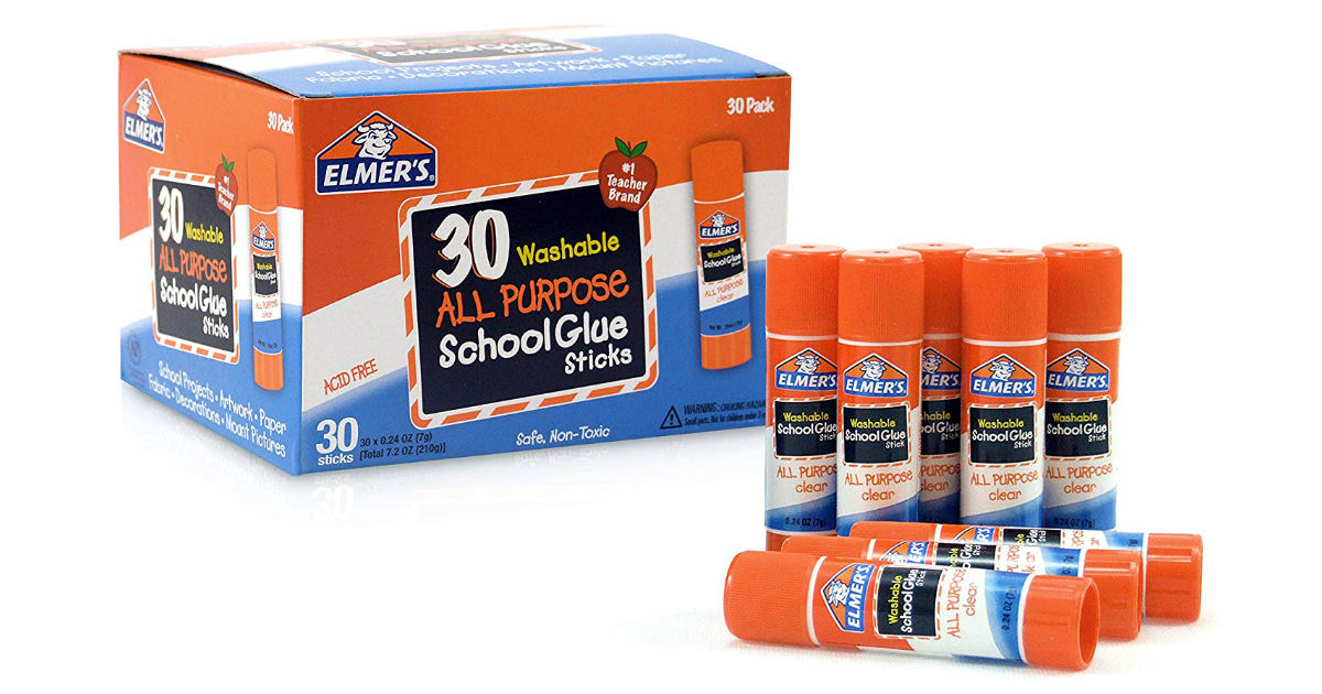 Elmer's Glue Sticks 30-Pack ONLY $8.88 (Reg. $15)
