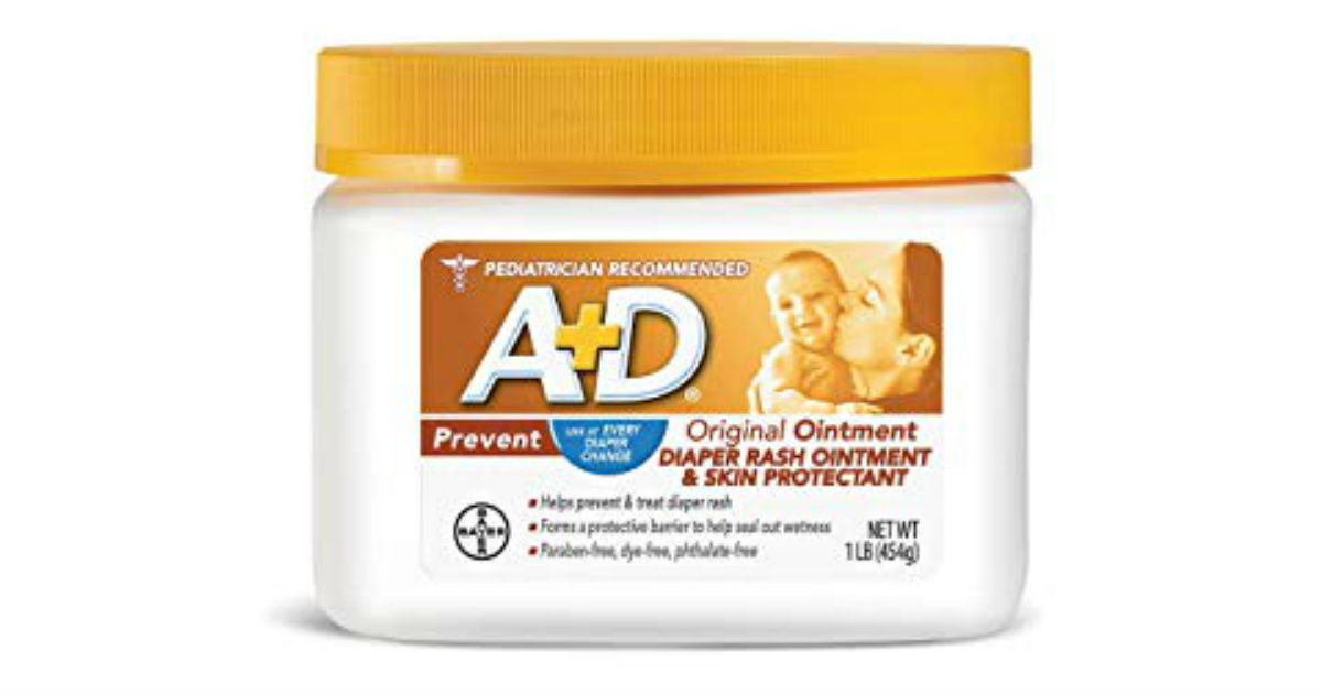 A+D Original Diaper Rash Ointment ONLY $5.42 (Reg. $11)