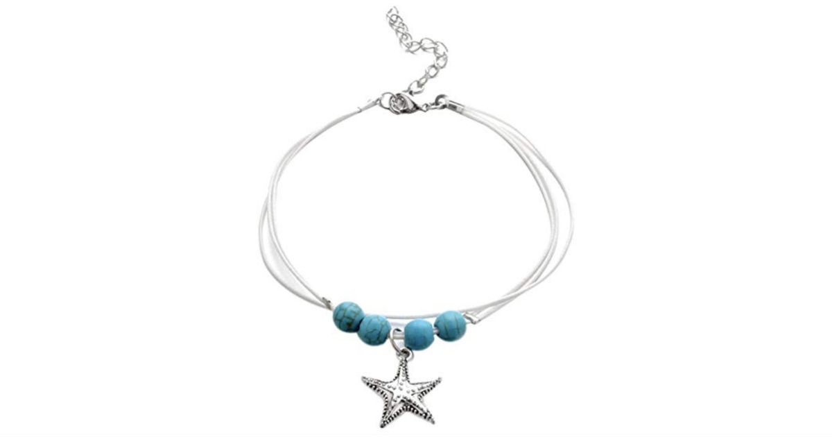 Starfish Multilayer Mermaid Tail Anklet Charm ONLY $1 Shipped