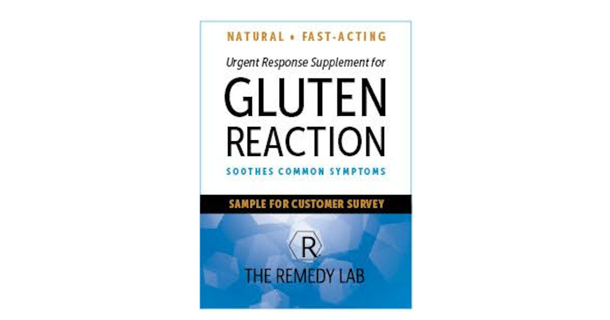FREE Sample of The Remedy Lab Gluten Reaction Supplement