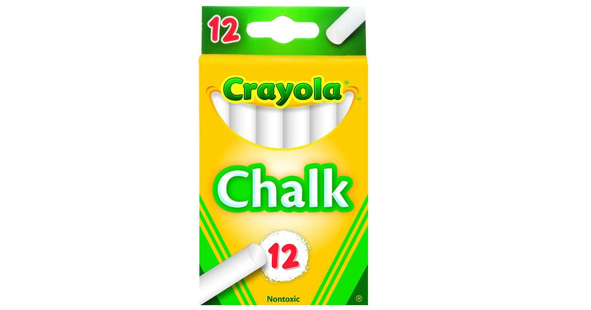 Crayola White Chalk 12-Count ONLY $0.79 (Reg. $2.49)