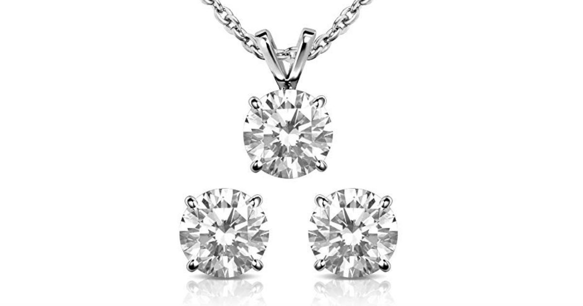 Women's Necklace and Stud Earring Set ONLY $9.74 (Reg. $26)