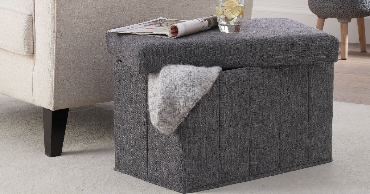 Mainstays Collapsible Storage Ottoman ONLY $16.82 (Reg $50)