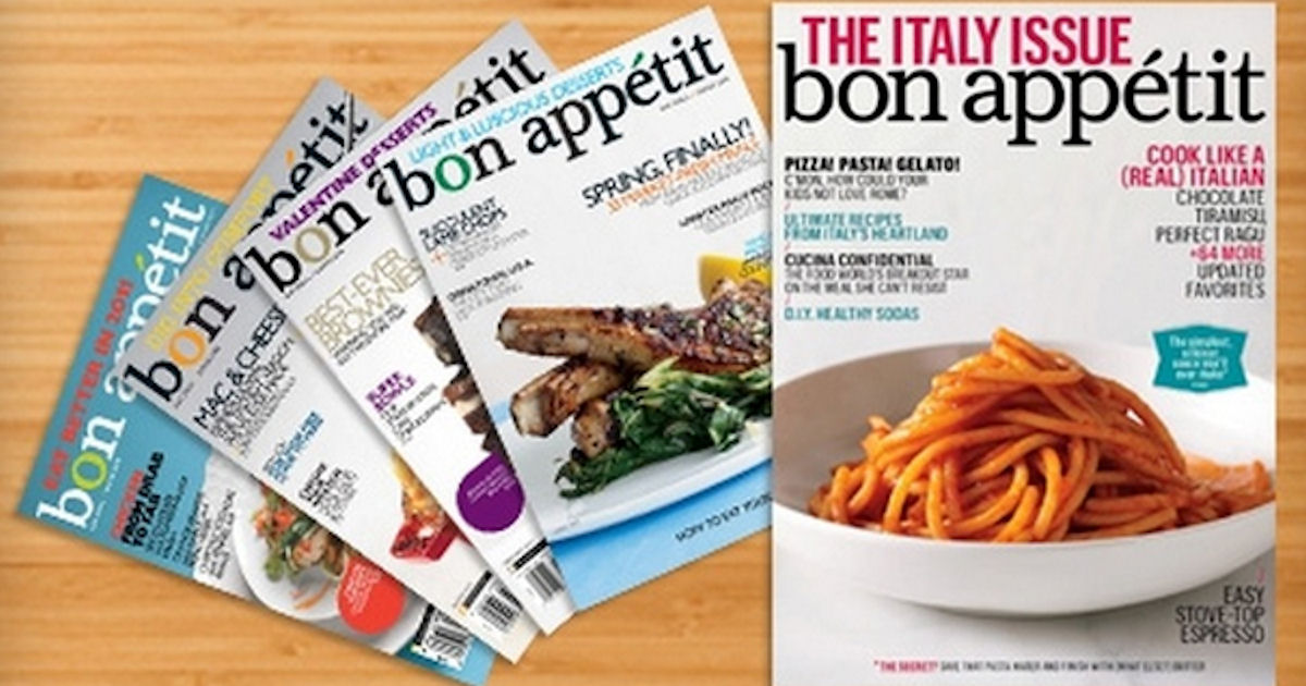 FREE Subscription to Bon Appét...