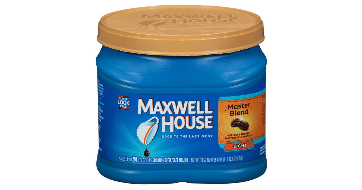 Maxwell House Ground Coffee ONLY $4.49 on Amazon