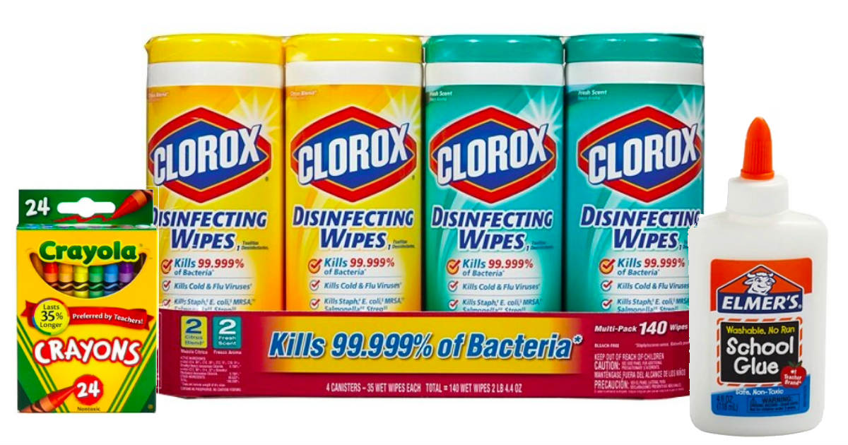 Crayola, Elmers and Clorox at Office Depot