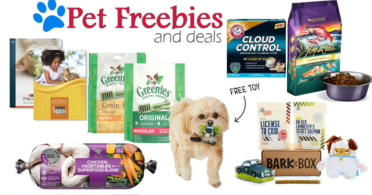 Dog & Cat Freebies for...