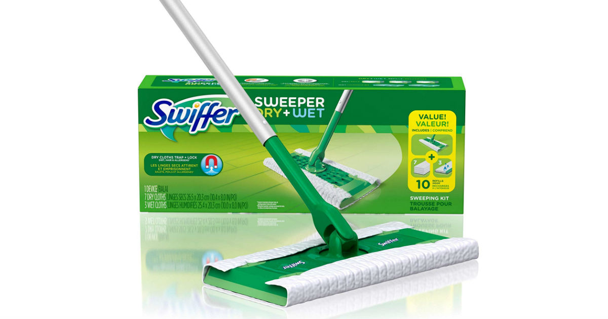 Swiffer Sweeper Mopping and Cleaning Starter Kit ONLY $7.49