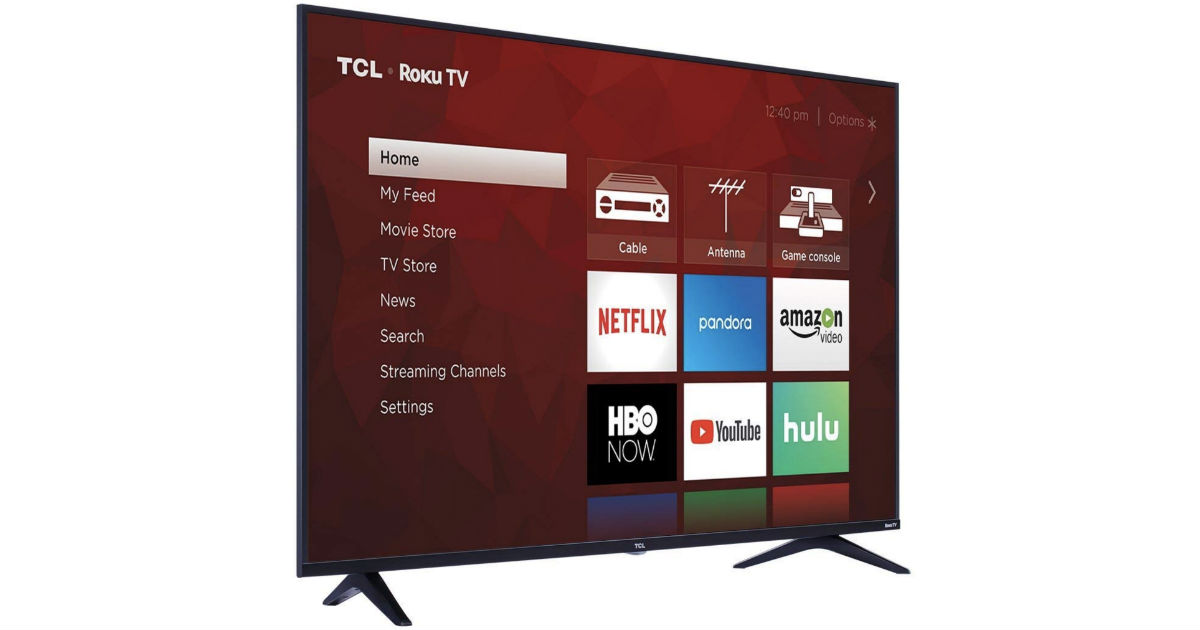 TCL 55-In Class 4K Ultra HD Roku Smart LED TV ONLY $249.99