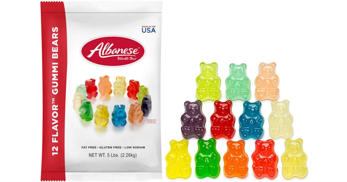 Albanese Gummi Bears 5 lb Bag.