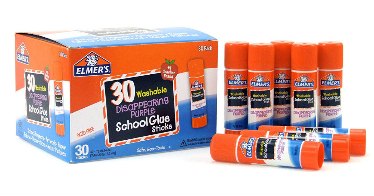 Elmer's Disappearing Purple Glue 30-Pack ONLY $6.63 (Reg. $15)