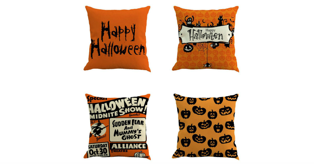 Happy Halloween Pillow Covers ONLY $2.37 Each on Amazon