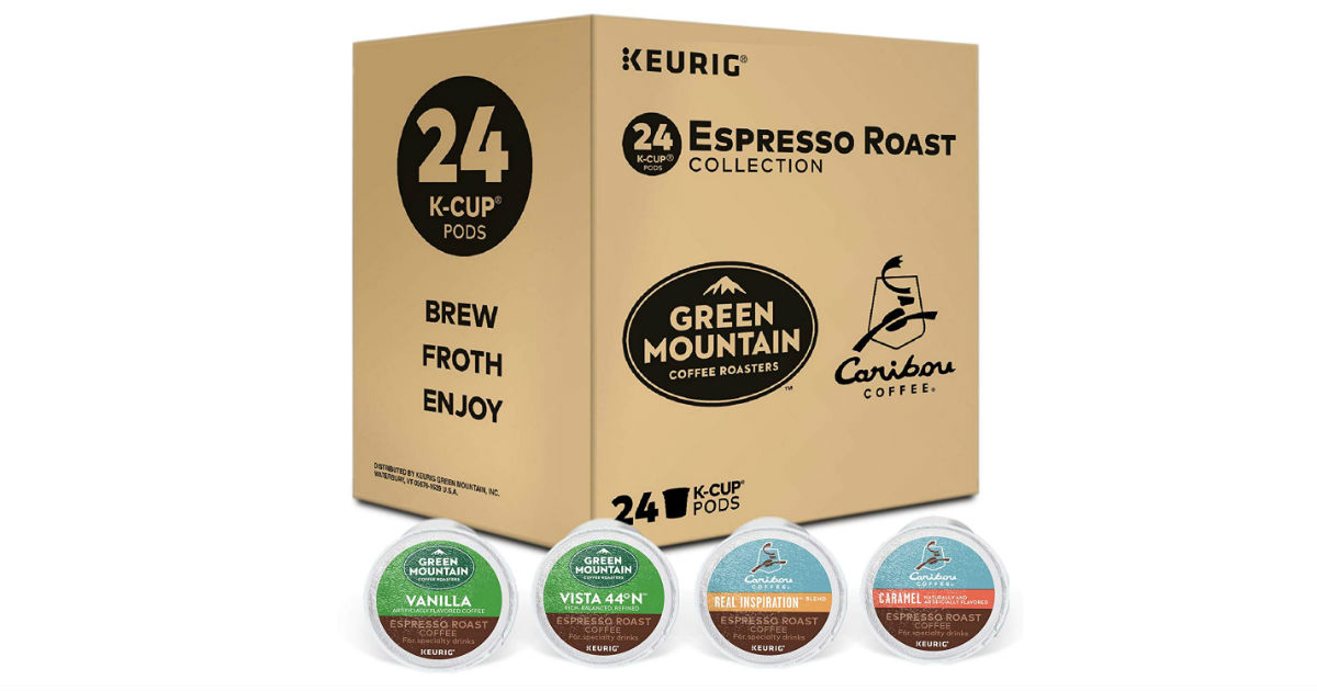 Keurig Espresso Sampler 24-Pack ONLY $9.49 (Reg. $20)