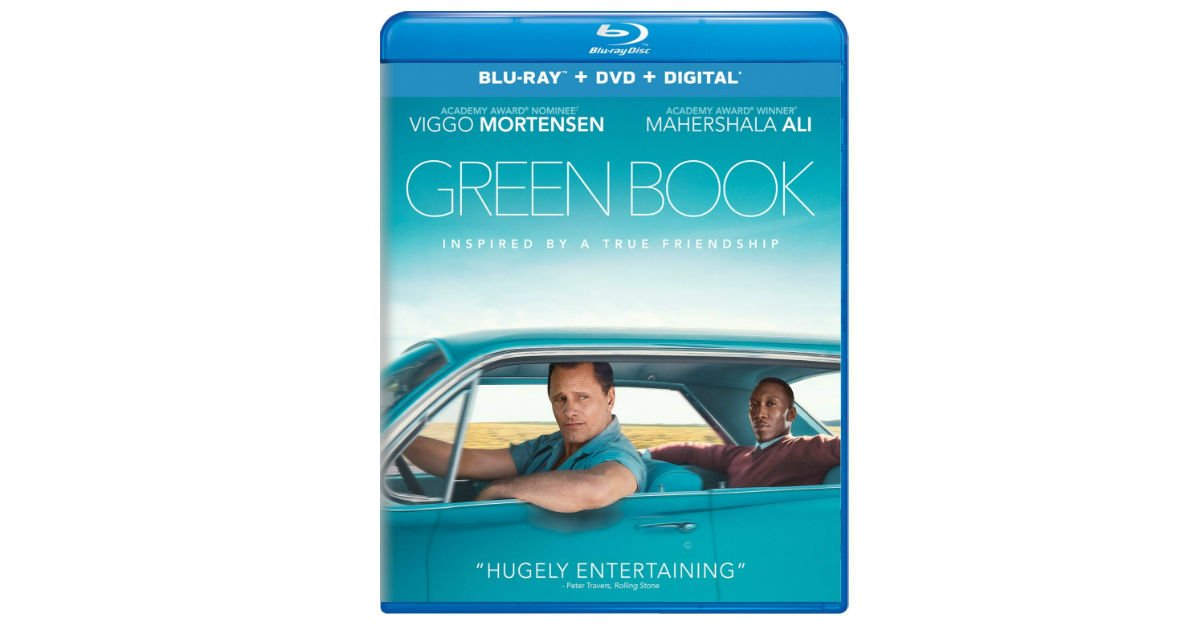Green Book on Blu-ray DVD + Digital ONLY $9.99 (Reg. $23)