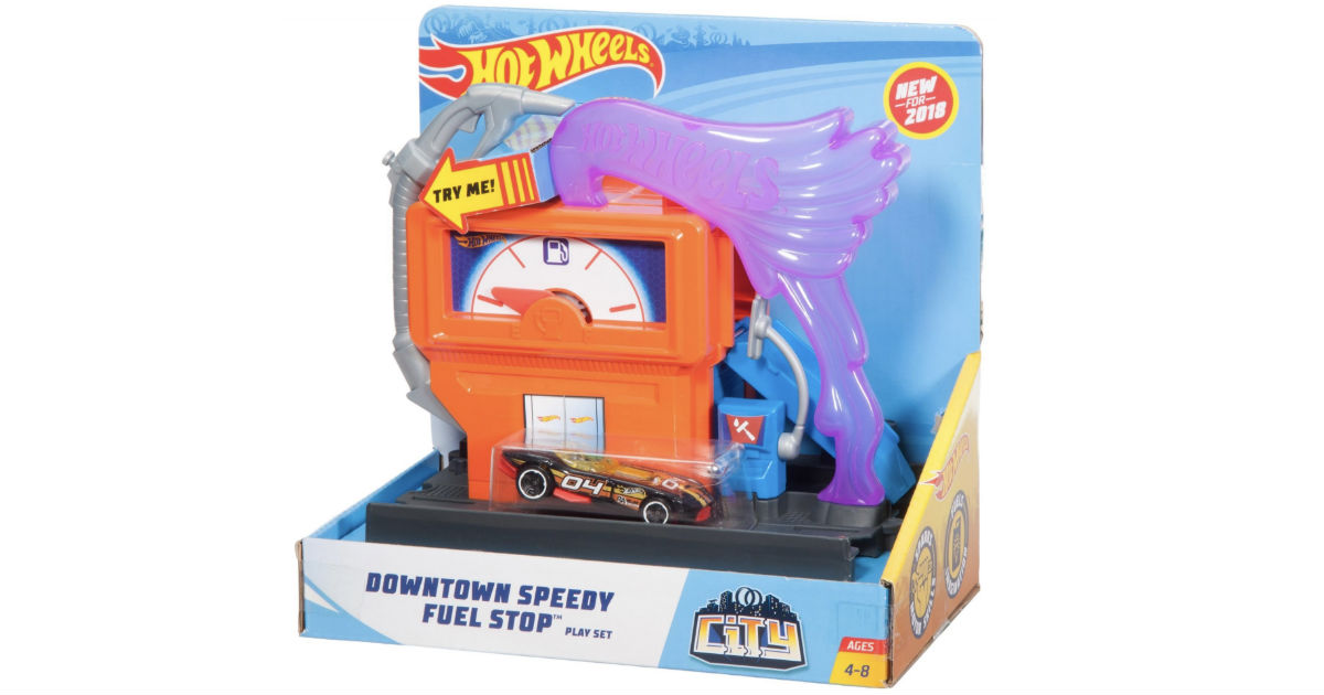 Hot Wheels City Downtown Super Fuel Stop Play Set ONLY $3.30
