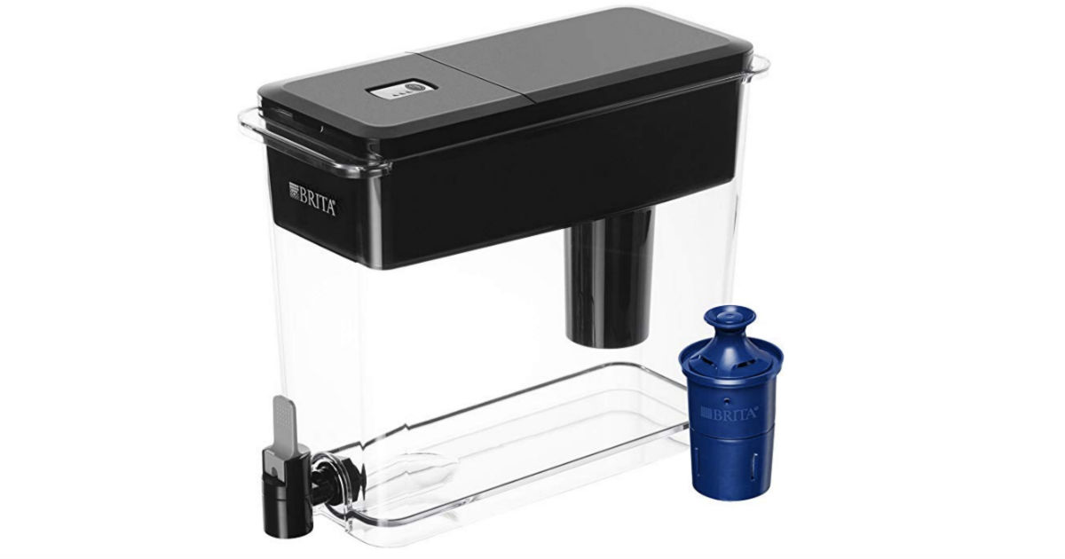 Brita Filtered Water Pitcher Black 18-Cup ONLY $27.99 (Reg $45)