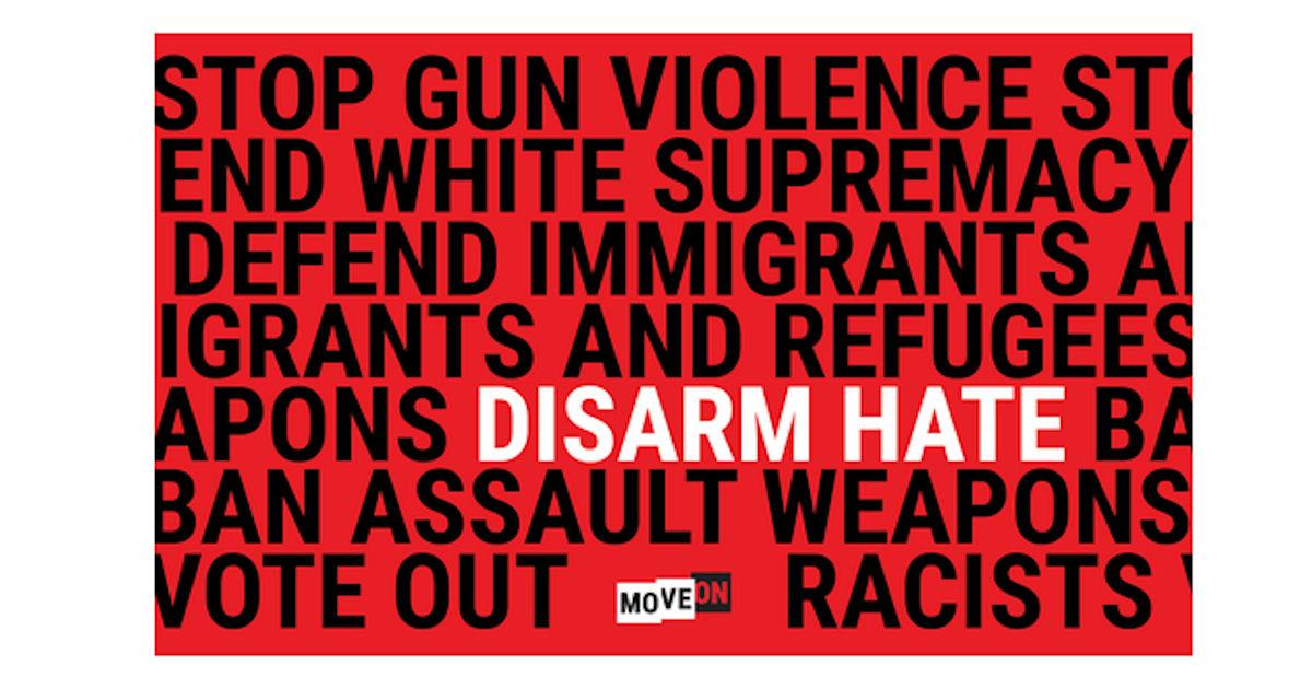 FREE Disarm Hate Sticker...
