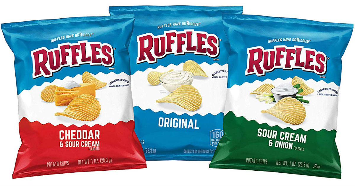 Ruffles Potato Chips Variety Pack 40-ct ONLY $9.74 Shipped