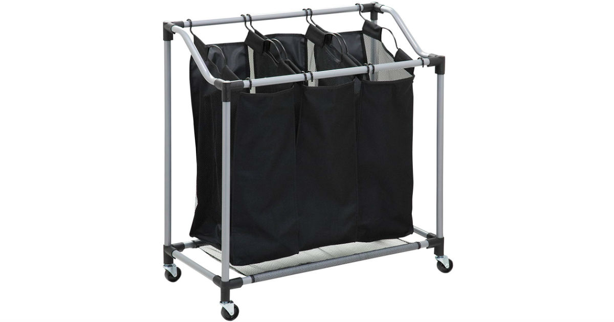 Honey-Can-Do Triple Laundry Sorter with Mesh Bags ONLY $15.44