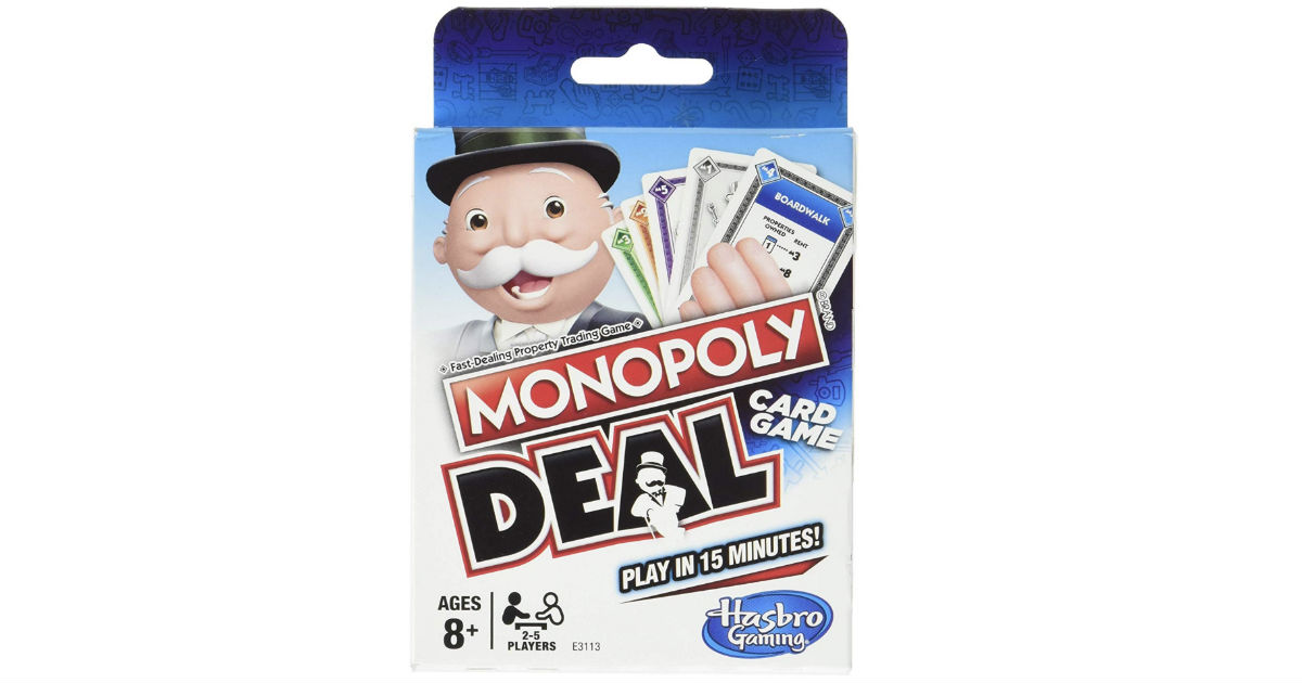 Monopoly Deal Games ONLY $3.99 on Amazon