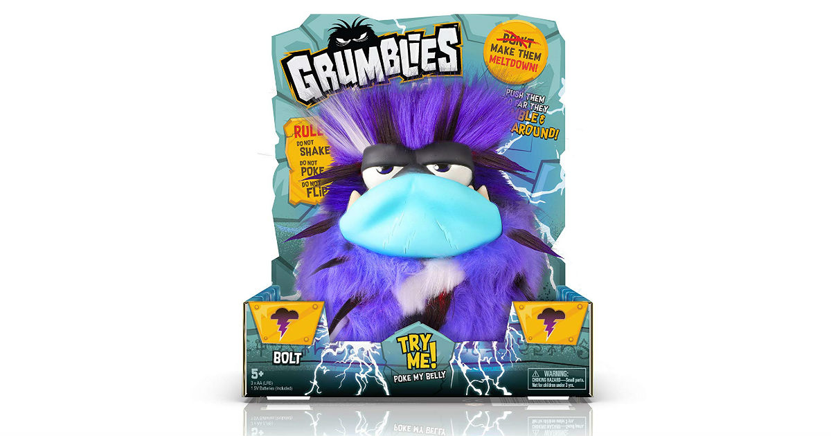 Grumblies Bolt ONLY $5.99 (Reg. $20)