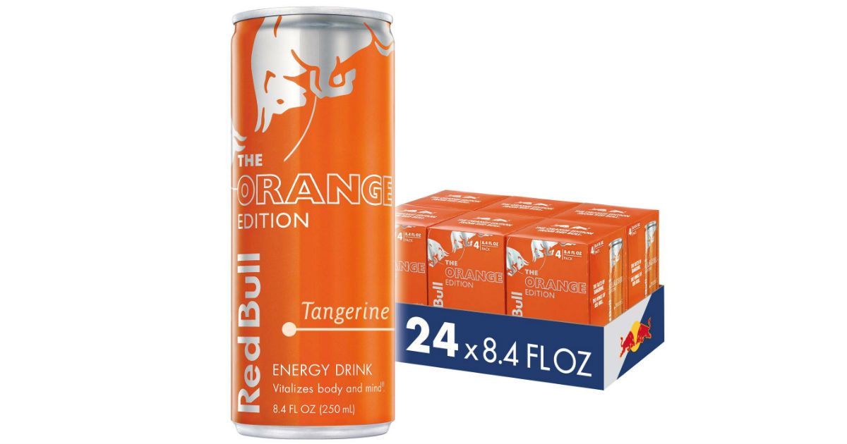 Red Bull Energy Drink Tangerine 24 Pack ONLY $20 on Amazon