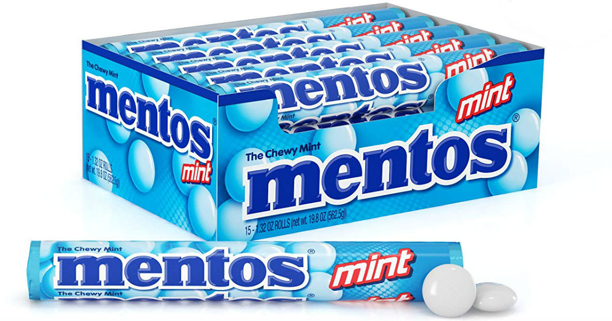 Mentos Chewy Mint Candy Roll 15-Pk ONLY $6.74 at Amazon