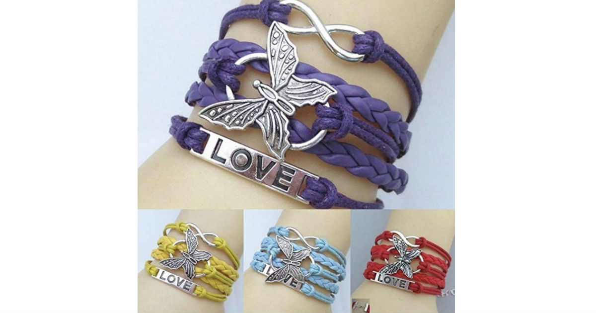 Handmade Multi Layer Butterfly Bracelet ONLY $2 Shipped