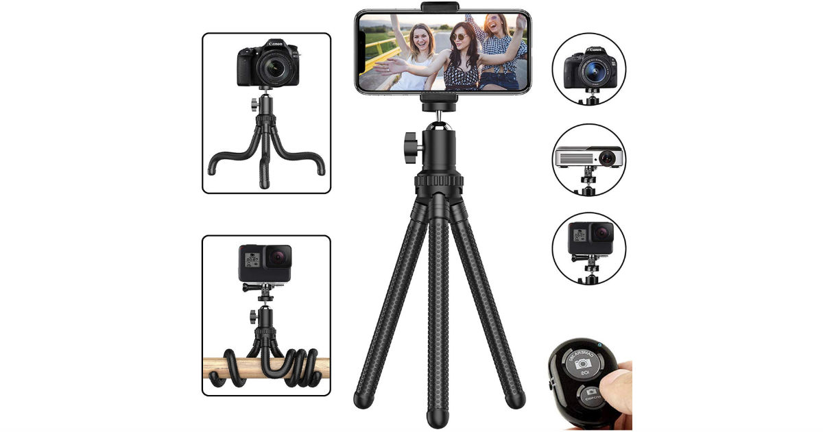 Adjustable Rotating Camera & Phone Tripod ONLY $7.95 (Reg $15)