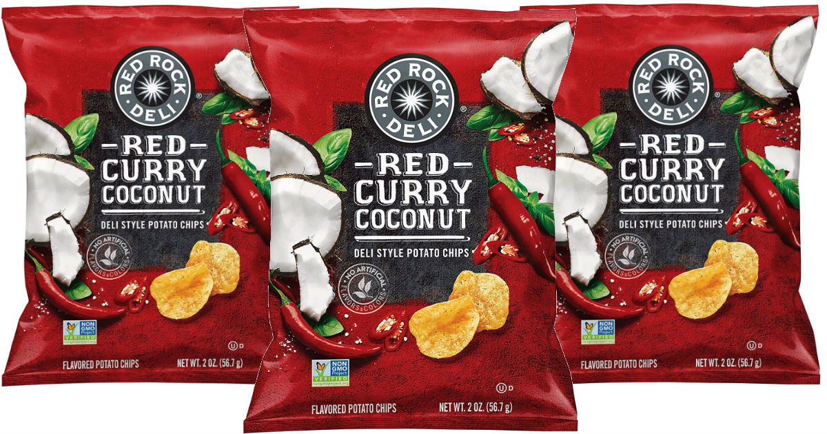 Red Rock Potato Chips, Red Curry Coconut 12-ct ONLY $12.09 Shipped