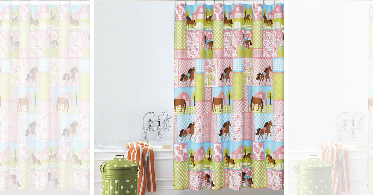 Mainstays Kids Country Meadows Printed Shower Curtain ONLY $3.38
