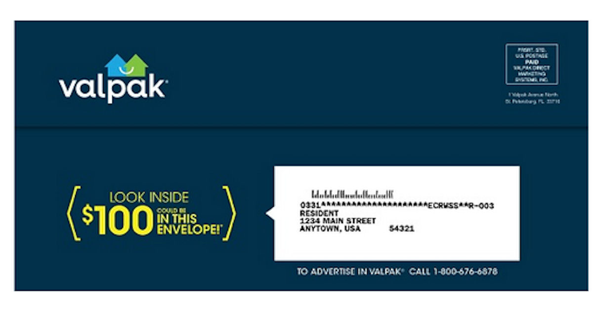 FREE Valpak Coupons By Mail...