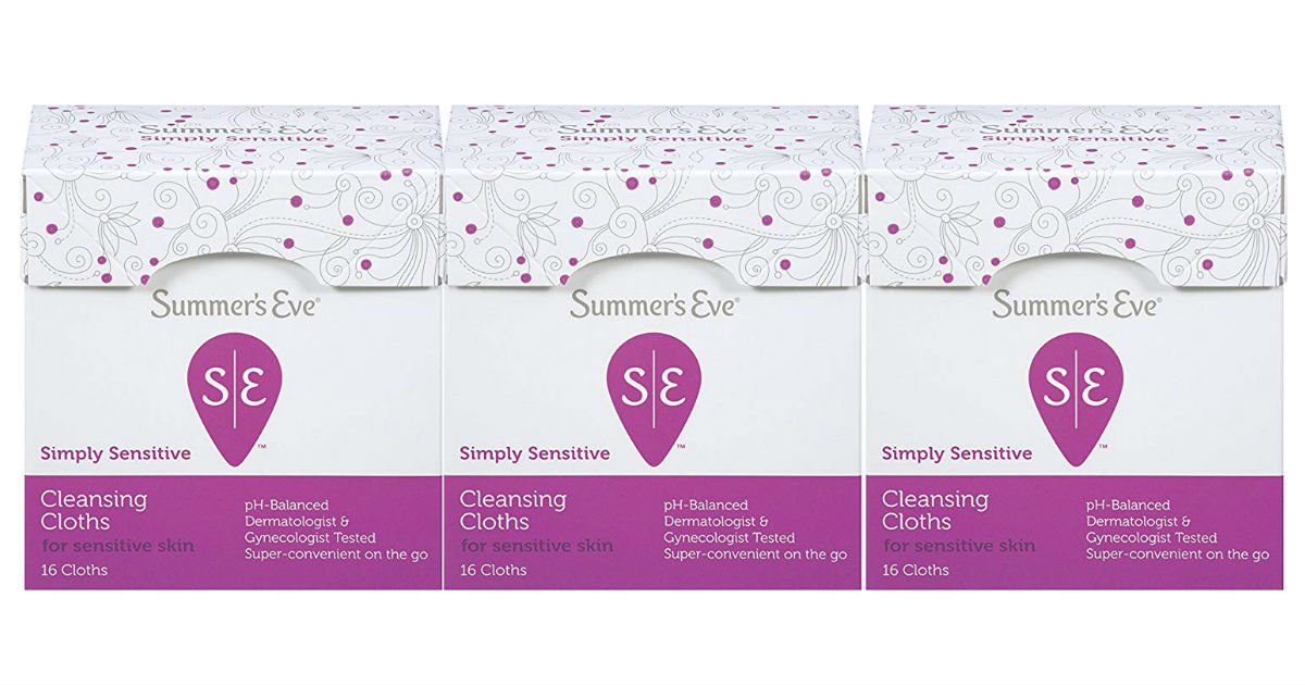 Summer's Eve Cleansing Cloths 3-Pack ONLY $4.90 on Amazon
