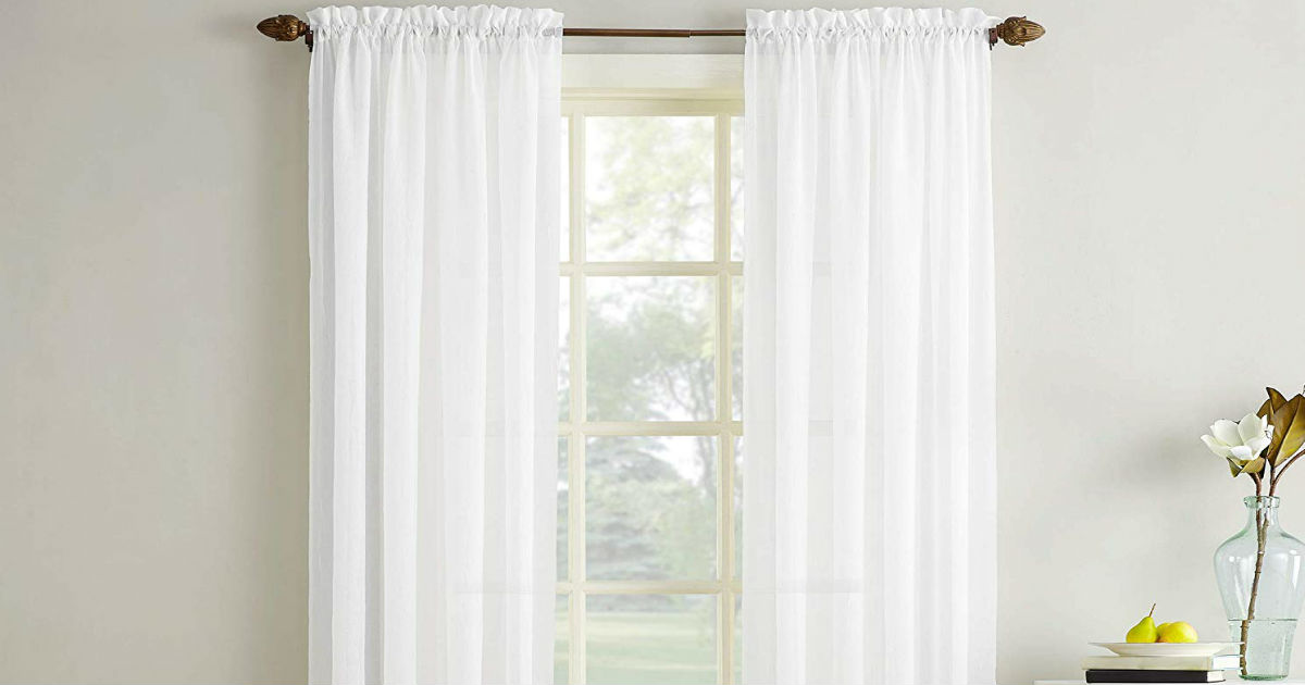 Erica Crushed Sheer Curtains ONLY $7.99 (Reg. $20)