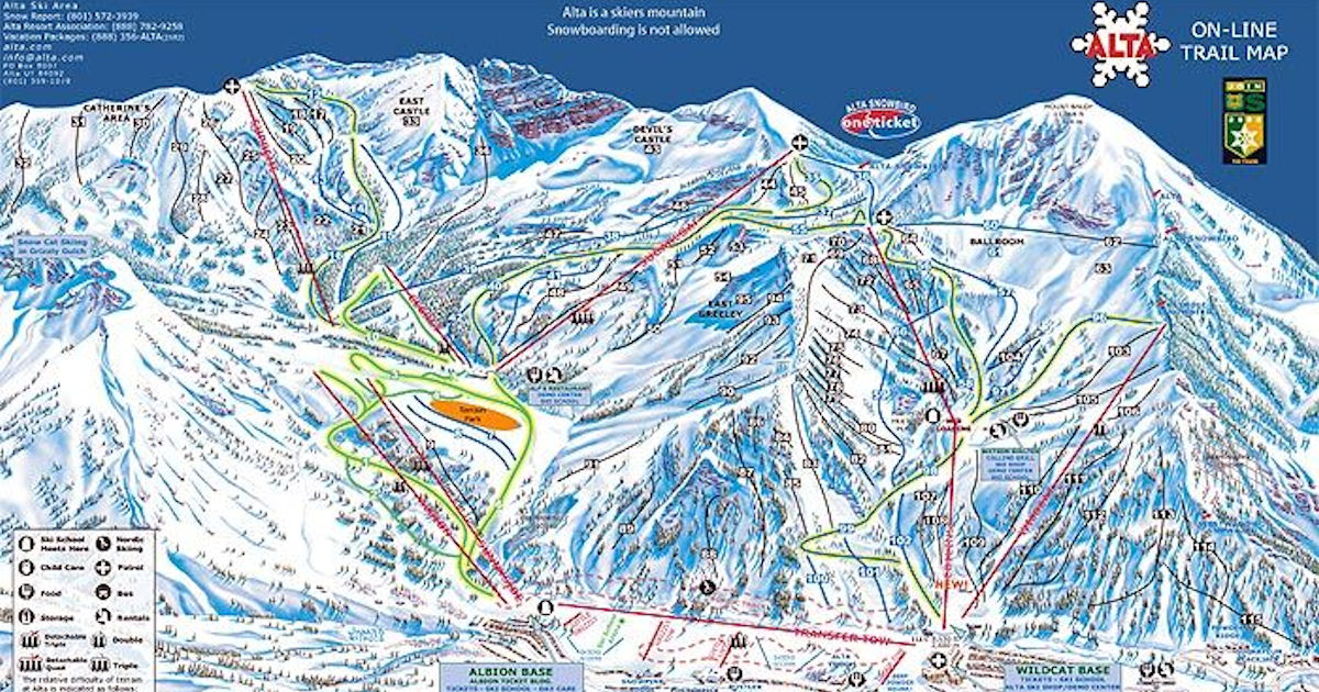 FREE Alta Ski Area Trail Map &...