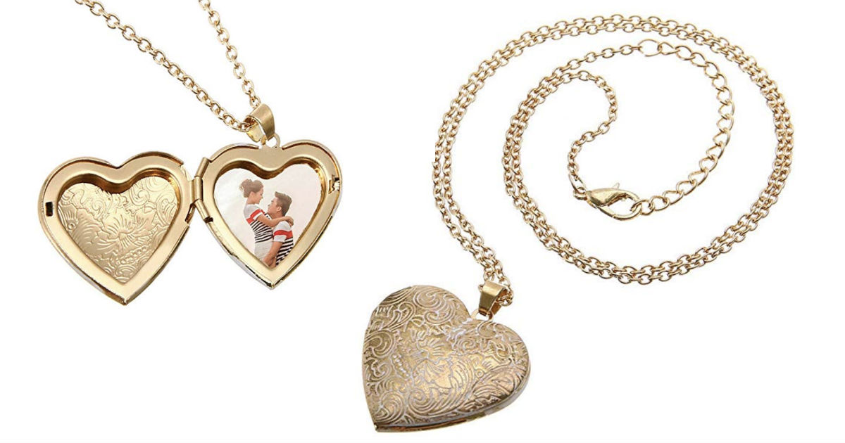 Heart-Shaped Necklace Locket Photo Frame Box ONLY $4.99 Shipped