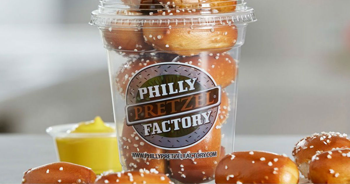 image relating to Philly Pretzel Factory Coupons Printable named BOGO Rivet Shakers at Philly Pretzel - Printable Discount coupons