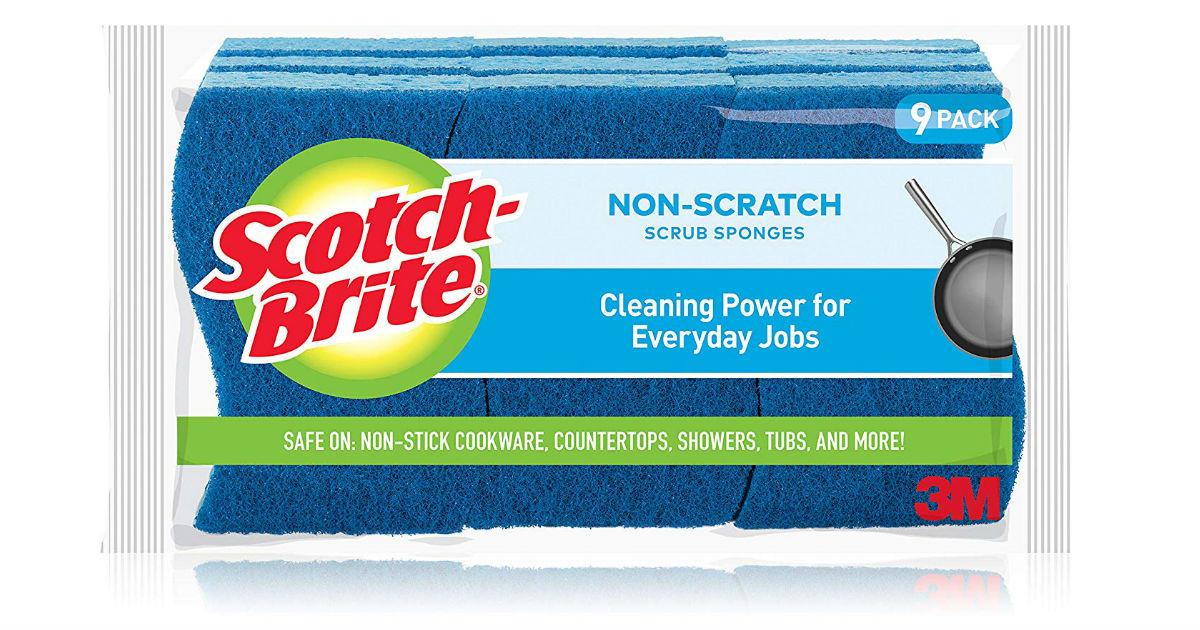 Scotch-Brite Non-Scratch Scrub Sponges 9-Pack ONLY $6.61 Shipped