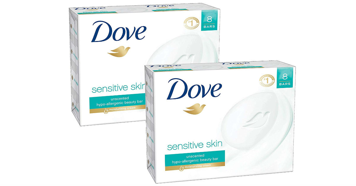Dove Beauty Bar Sensitive Skin 16-ct ONLY $11.61 Shipped